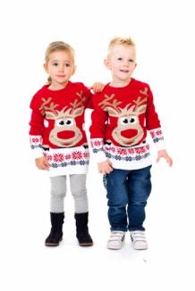 dfb5c3f617724 Pull de Noël en mailles pour enfant avec motifs jacquard et fantaisie